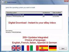 Windows 7 Pro 32/64 Bit - 200 + aggiornamenti, Multi Lingua, ISO Digital Download