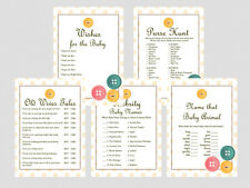 Print Yourself Cute as a Button, Gender Neutral Baby Shower Games TLC22