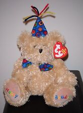 Ty Beanie Baby ~ HAPPY BIRTHDAY the Bear with Bow Tie & Hat ~MINT with MINT TAGS