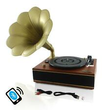 New Pyle PNGTT12RBT Bluetooth Turntable Gramophon Phonograph Vinyl Record Player