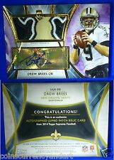 Drew Brees autograph JUMBO PATCH . 5/5 SCARCE