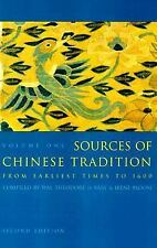 Introduction to Asian Civilizations: Sources of Chinese Tradition Vol. 1 :...