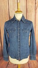L289 Guess Jeans Mens Western Style Denim Long Sleeve Shirt, Small