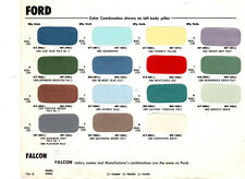 1960 FORD GALAXIE THUNDERBIRD FAIRLANE DODGE DART POLARA SENECA PAINT CHIPS MS 8