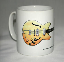 Guitar Mug. John Lennon's 1965 Epiphone Casino illustration.