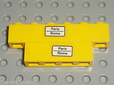 Autocollant LEGO TRAIN bricks with PARIS ROMA STICKER / Set 7710 Push Train
