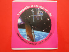 AUTOCOLLANT STICKER AUFKLEBER ESPACE SPACE TRANSPORTATION USA NASA SHUTTLE 1999