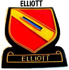 ELLIOTT SCOTTISH CLAN BADGE NEW HAND EMBROIDERED CP MADE HI QUALITY COLLECT ITEM