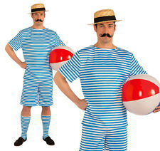 Mens Beachside Clyde Fancy Dress Costume Victorian Swimwear Seaside Outfit