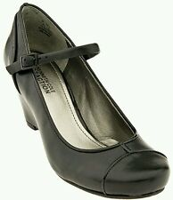 AUTH.BNIB KENNETH COLE WOMEN'S REAL CUTE MARY JANE WEDGE SHOES, BLACK, SZ. 7.5