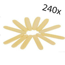 240pcs Portable Soft Compressed Facial Cleaning Sponge Stick Face Care Yellow E