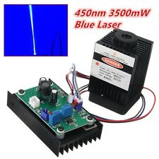 450nm 3500mW 3.5W Blue Laser Module With TTL Modulation for DIY Laser Cutter Eng