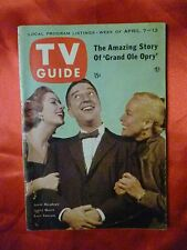 Pittsburgh April 7 TV GUIDE 1956 GARRY MOORE Lassie Grand Ole Opry Judy Garland