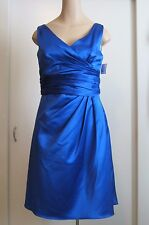 DAVIDS BRIDAL Royal Blue Ruched Formal Dress Sz.10  Beautiful!