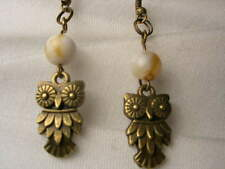 Owl earrings. Marble . Hand made. New
