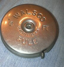 ANTIQUE WALSCO STAINLESS STEEL 6 FT. TAPE RULE- MEASURE