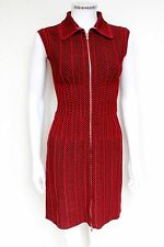 Azzedine Alaia Red Stretch Body-Con Knit Dress NWT F38 uk 10