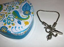 Brighton Silver Plated Golf Theme Club,Ball,Shoe Charm Bracelet NWOT +Heart Tin