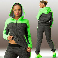2Pcs Lady Womens Tracksuits Hoodies Sweatshirt Pants Sets Sport Wear Casual Suit