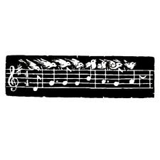Bird Song unmounted music rubber stamp, Auld Lang Syne #10