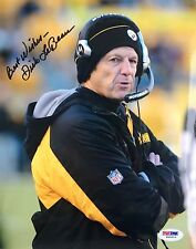 Dick LeBeau Signed Pittsburgh Steelers 8x10 Photo Psa/Dna