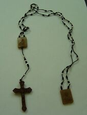 Knotted rosary scapular with beads religious