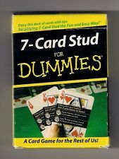 """Poker size deck of playing cards, """"7-Card Stud for Dummies"""", the fun & easy way"""