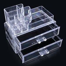 Clear Makeup Case Drawers Cosmetic Organizer Jewelry Cabinet Storage Acrylic Box