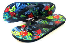 MENS ABERCROMBIE & FITCH TROPICAL FLORAL SANDALS FLIP FLOPS SIZE XL (12/13)
