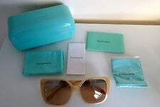 BNIB TIFFANY & CO. TF4074-B Cream Ivory Mirrored Butterfly Sunglasses *RRP £220*