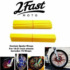 2FastMoto Spoke Wrap Kit Golden Yellow Custom Spokes Wheels Colours Yamaha