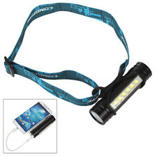 Rechargeable 2200mAh 800Lm 6X LED Flashlight & Headlamp Torch &Mobile Power Bank