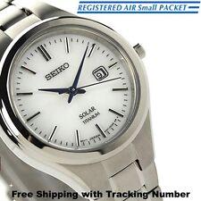 SEIKO SPIRIT STPX023 Solar Analog Titanium Silver White Ladies Watch Japan F/S