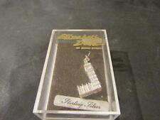 Lovely Vintage Large Solid Silver Big Ben Charm, Orig Box,1970s
