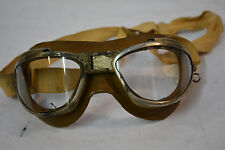 Genuine WWII AN6530 Flying Goggles original strap clear lens