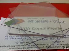 Clear Polycarbonate Plastic Sheet 210 x 297 x 1mm Ideal for Dolls House Window