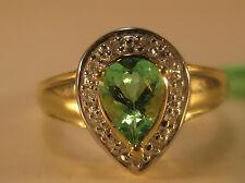 14KY .63 cttw Paraiba Tourmaline & Diamond Ring