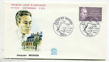 FRANCE 1987, FDC 1° JOUR, CELEBRITE, JACQUES MONOD, timbre 2459