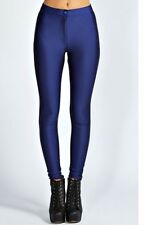 American Apparel Navy Blue High Waist Rise Shiny Vintage Disco Pant Pants S NWOT