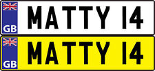 PERSONALISED NUMBER PLATES FOR KIDS VW BEETLE RIDE ON BUGGY CAR 155 X 35 mm