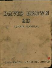 David Brown 2D TRATTORE Workshop Repair Service Manual-zy4