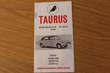 Ford Taurus Performance Tuning For Corsair Zephyr Zodiac Original Sales Folder