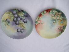 Estate Pair of Limoges Hand-Painted Decorative Plates
