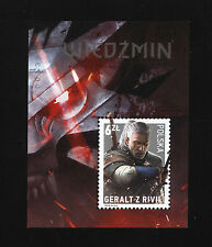 The Witcher Polish collector block stamp Wiedźmin - Geralt of Rivia