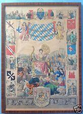 1/6 Kolorierte Druckgrafik Kupfertitel Königreich Bayern in seinen 8 Kreisen ~36