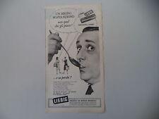 advertising Pubblicità 1961 BRODO TAVOLETTA LIEBIG