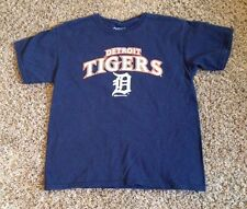 VINTAGE DETROIT TIGERS  MLB  BASEBALL TEE -  JERSEY BY STITCHES YOUTH  LARGE