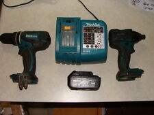 MAKITA LXT 18V BRUSHLESS LI ION HAMMER DRILL IMPACT LXDT08 XPH01 CHARGER KIT
