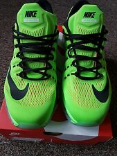 mens nike air max 2016 uk size 10.5 electric green/black/pink running shoes