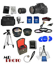 Canon T5i / 700D Digital SLR Camera + 3 Lens Kit 18-55mm STM Lens + 32GB Bundle